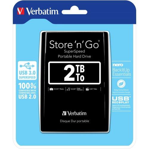 Фото Внешний HDD Verbatim Store 'n' Go 2TB (53177) Black