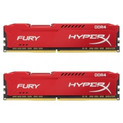 Фото ОЗУ Kingston DDR4 16GB (2x8GB) 2400Mhz HyperX FURY Red (HX424C15FR2K2/16)