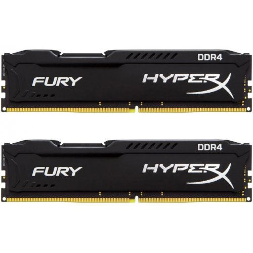 Фото Kingston DDR4 16GB (2x8GB) 2666Mhz HyperX FURY Black (HX426C16FB2K2/16)
