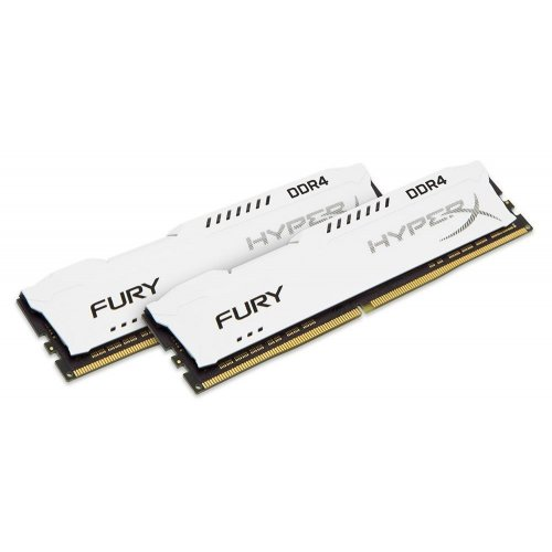 Фото ОЗУ Kingston DDR4 16GB (2x8GB) 2666Mhz HyperX FURY White (HX426C16FW2K2/16)