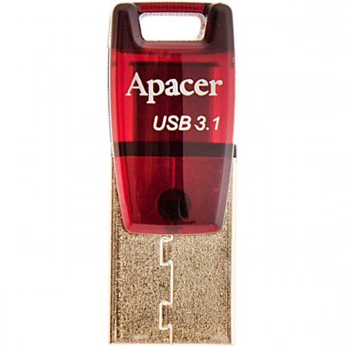 Фото Накопитель Apacer AH180 16GB Type-C Dual USB 3.1 Red (AP16GAH180R-1)