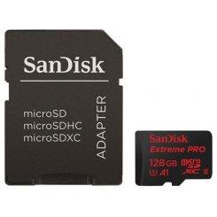 Фото Карта памяти SanDisk microSDXC Extreme Pro 128GB V30 A1 UHS-I U3 R100/W90MB/s 4K (с адаптером) (SDSQXCG-128G-GN6MA)