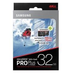 Фото Карта памяти Samsung microSDHC Pro Plus 32GB UHS-I U3 Class 10 (с адаптером) (MB-MD32GA/RU)