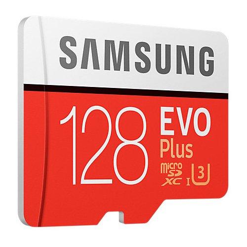 Фото Карта памяти Samsung microSDXC EVO Plus 128GB UHS-I U3 Class 10 (с адаптером) (MB-MC128GA/RU)
