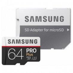Фото Карта памяти Samsung microSDXC Pro Plus 64GB UHS-I U3 Class 10 (с адаптером) (MB-MD64GA/RU)