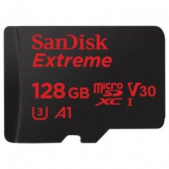 Фото Карта памяти SanDisk microSDXC Extreme Action 128GB Class 10 V30 A1 UHS-I U3 (с адаптером) (SDSQXAF-128G-GN6AA)