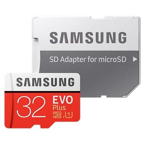 Фото Карта памяти Samsung microSDHC EVO Plus 32GB UHS-I U3 Class 10 (с адаптером) (MB-MC32GA/RU)