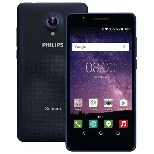 Фото Смартфон Philips Xenium S386 Dual Sim Dark Blue