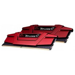 Фото ОЗУ G.Skill DDR4 16GB (2x8GB) 2666Mhz Ripjaws V Red (F4-2666C15D-16GVR)