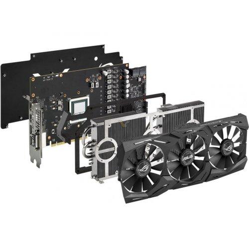 Фото Видеокарта Asus ROG Radeon RX VEGA 64 STRIX 8192MB (ROG-STRIX-RXVEGA64-8G-GAMING)