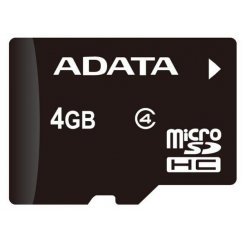 Фото Карта памяти A-Data microSDHC 4GB Class 4 (без адаптера) (AUSDH4GCL4-R)