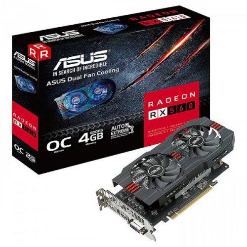 Фото Видеокарта Asus Radeon RX 560 OC 4096MB (RX560-O4G)