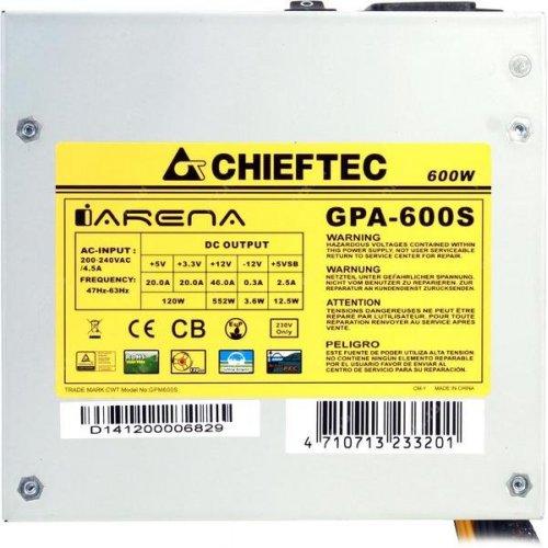 Фото Блок питания CHIEFTEC i-ARENA 600W (GPA-600S)