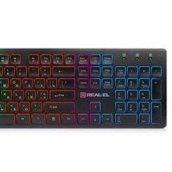 Фото Клавиатура REAL-EL Comfort 7070 Backlit USB Black