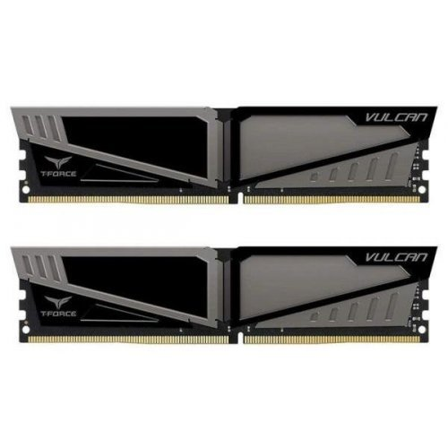 Фото ОЗУ Team DDR4 16GB (2x8GB) 2400Mhz T-Force Vulcan Gray (TLGD416G2400HC14DC01)