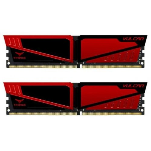Фото ОЗУ Team DDR4 16GB (2x8GB) 3000Mhz T-Force Vulcan Red (TLRED416G3000HC16CDC01)
