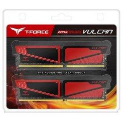 Фото ОЗУ Team DDR4 32GB (2x16GB) 2666Mhz T-Force Vulcan Red (TLRED432G2666HC15BDC01)