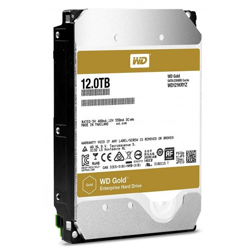 Фото Жесткий диск Western Digital Gold 12TB 256MB 7200RPM 3.5'' (WD121KRYZ)