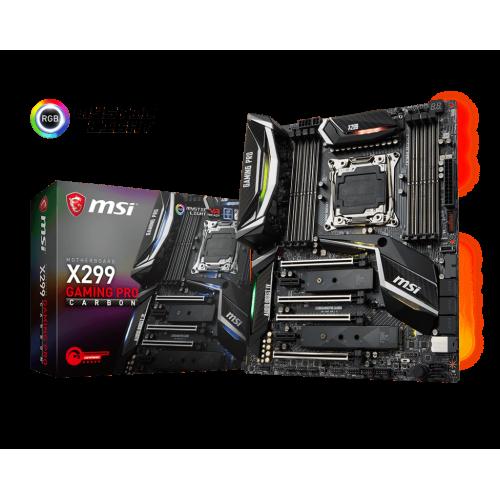 Фото Материнская плата MSI X299 GAMING PRO CARBON (s2066, Intel X299)