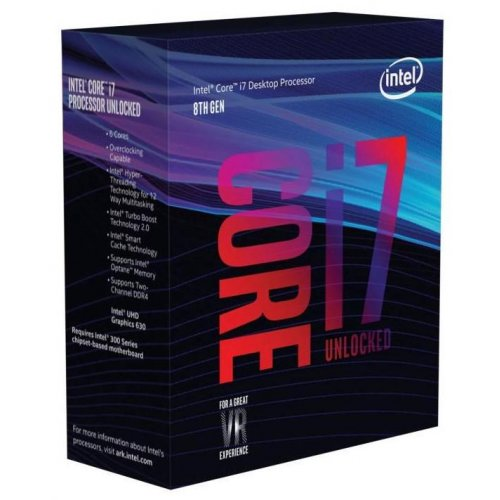 Купить Процессоры, Intel Core i7-8700K 3.7(4.7)GHz 12MB s1151 Box (BX80684I78700K)