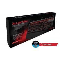 Фото Клавиатура Kingston HyperX Alloy Elite Cherry MX Blue (HX-KB2BL1-RU/R1) Black