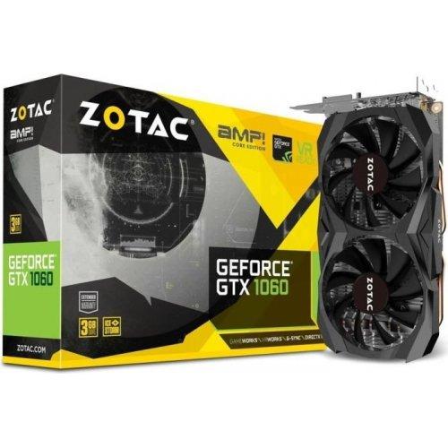 Фото Видеокарта Zotac GeForce GTX 1060 AMP Core Edition 3072MB (ZT-P10610H-10M)