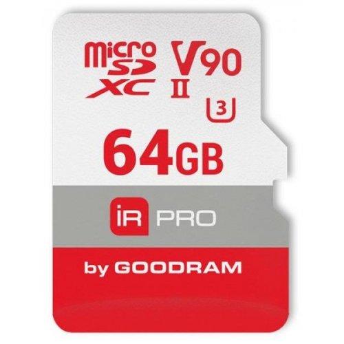 Фото Карта памяти GoodRAM microSDXC IRDM PRO 64GB UHS II V90 U3 R280/W240 (с адаптером) (IRP-M9BA-0640R11)
