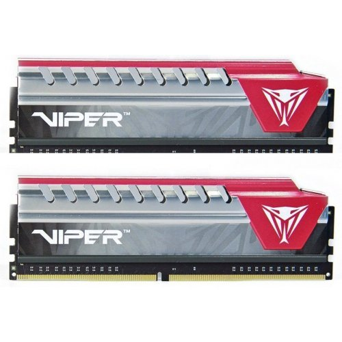 Фото Patriot DDR4 8GB (2x4GB) 2400Mhz Viper Elite Red (PVE48G240C5KRD)