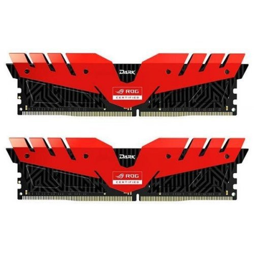 Фото ОЗУ Team DDR4 16GB (2x8GB) 3000Mhz T-Force Dark ROG Black/Red (TDRRD416G3000HC16CDC01)