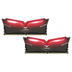 Фото ОЗУ Team DDR4 32GB (2x16GB) 3200Mhz T-Force Night Hawk Black LED/Red (THRD432G3200HC16CDC01)