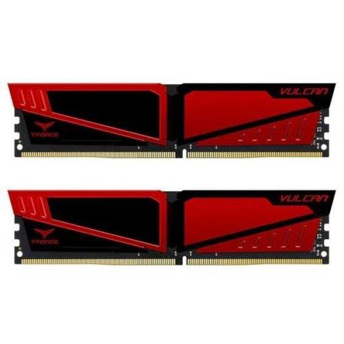 Фото ОЗУ Team DDR4 16GB (2x8GB) 3200Mhz T-Force Vulcan Red (TLRED416G3200HC16CDC01)