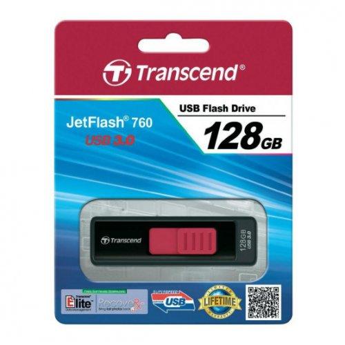 Фото Накопитель Transcend JetFlash 760 USB 3.0 128GB Black (TS128GJF760)