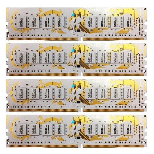 Фото ОЗУ Geil DDR4 64GB (4x16GB) 2800Mhz Dragon White (GWW464GB2800C16QC)
