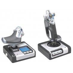Фото Игровые манипуляторы Logitech X52 H.O.T.A.S. (945-000006) Silver