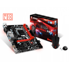 Фото Материнская плата MSI B150M GAMING PRO (s1151, Intel B150) + BIOS 7th Gen Ready + MSI Interceptor DS B1