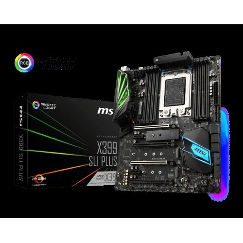 Фото Материнская плата MSI X399 SLI PLUS (sTR4, AMD X399)