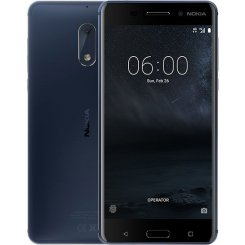 Фото Смартфон Nokia 6 Dual Sim Tempered Blue