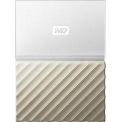Фото Внешний HDD Western Digital My Passport Ultra 4TB (WDBFKT0040BGD-WESN) White/Gold