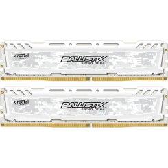 Фото ОЗУ Crucial DDR4 32GB (2x16GB) 2666Mhz Ballistix Sport LT (BLS2C16G4D26BFSC) White