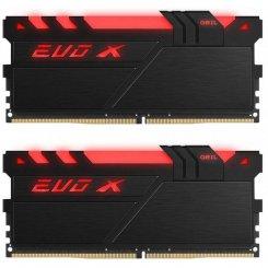 Фото ОЗУ Geil DDR4 16GB (2x8GB) 3200Mhz EVO X RGB (GEXB416GB3200C16ADC) Black