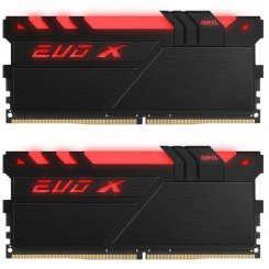 Фото ОЗУ Geil DDR4 32GB (2x16GB) 3000Mhz EVO X RGB (GEXB432GB3000C16ADC) Black