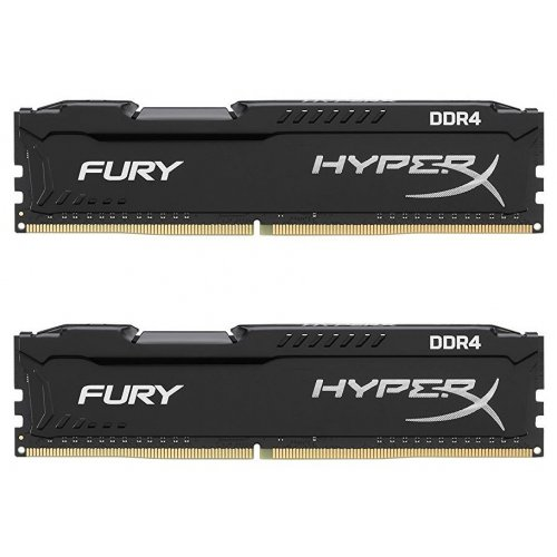 Фото ОЗУ Kingston DDR4 32GB (2x16GB) 2666Mhz HyperX FURY (HX426C16FBK2/32) Black