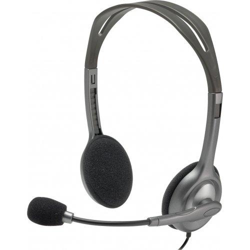 Купить Наушники, Logitech H111 Stereo Headset (L981-000593) Black