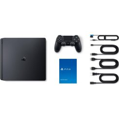 Фото Sony PlayStation 4 Slim (PS4 Slim) 500Gb +God of War III+Horizon Zero Dawn+UNCHARTED 4 Путь вора Black