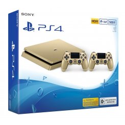 Фото Sony PlayStation 4 Slim (PS4 Slim) 500GB Gold + Геймпад Sony Dualshock 4 Gold