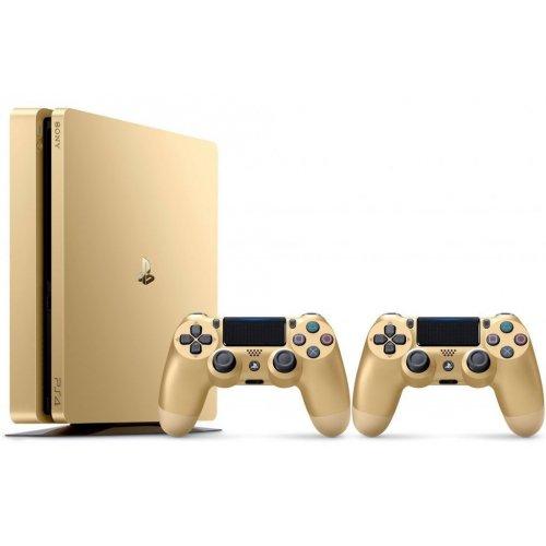 Фото Sony PlayStation 4 Slim (PS4 Slim) 500GB Gold + Геймпад Sony Dualshock 4 Gold