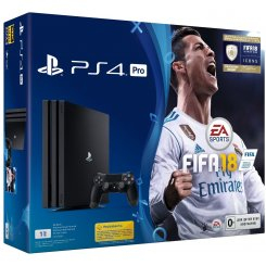 Фото Sony PlayStation 4 Pro (PS4 Pro) 1TB + FIFA18 Black