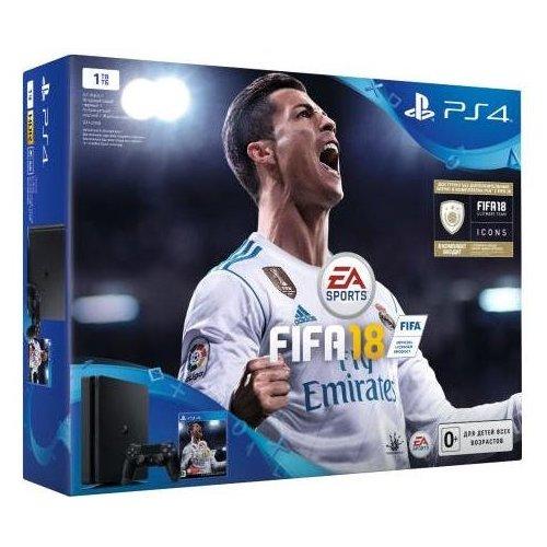 Фото Sony PlayStation 4 Slim (PS4 Slim)1TB + FIFA18 Black