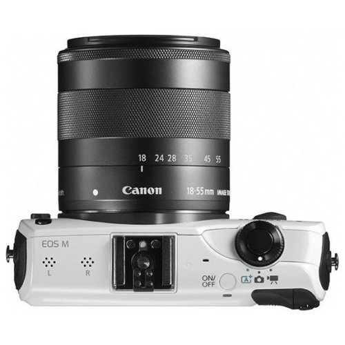 Фото Цифровые фотоаппараты Canon EOS M 18-55 IS STM Kit White