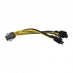Фото Разветвитель питания T-Cable PCI-E 6pin to 2x6pin M/F 0,15m
